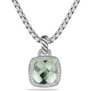 David Yurman Albion Prasiolite Diamond Pendant
